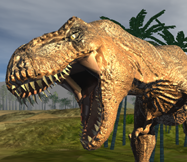 Photon engine and WebGL – Dinosaurs